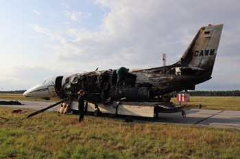 aircraft with major damages