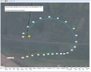 Image of the plane's route. Read more about the route in the PDF in this article.